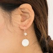 white almond earrings