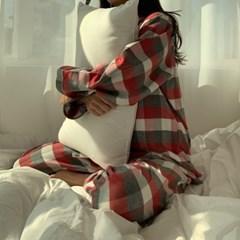 순면 기모 체크 클래식 겨울 잠옷 파자마
