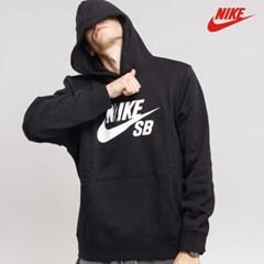 나이키 SB 아이콘 에센셜 기모 후드티 블랙'그레이 AJ9733