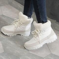 kami et muse Fur cuffs tall up ankle boots_KM19w158
