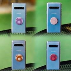 갤럭시노트10 (N971) Bien-BearTok 그립톡 투명 젤리 케이스