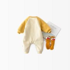 돌핀웨일 바나나나그랑 털안감우주복(66~90cm)
