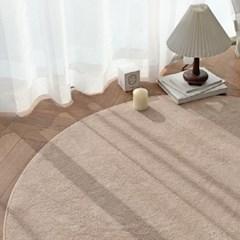로망스 물세탁 사계절 심플 단모 거실 침실 원형 러그