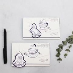 아이씨엘 크리스마스 태그 카드 -tea 3set