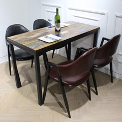 멀바우/빈티지/인테리어/카페 4인 1200 테이블 세트_(1550399)