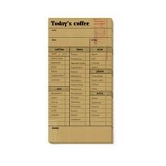 [스튜디오 퐁듀] 빈티지 메모지_Today's coffee 오늘의 커피