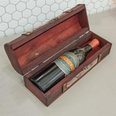 빈티지 우드 와인 보관함
