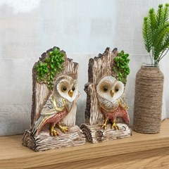 통나무 재물 부엉이 2P세트