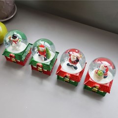 크리스마스 하우스 미니 워터볼 (중) 4P SET