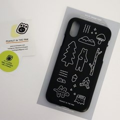 PHONE CASE. BEAR AND FOREST