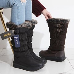 kami et muse Shirring padding fur long boots_KM19w162