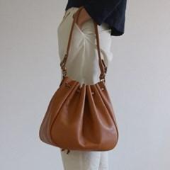 Oversized Pleat Bucket Bag _ br