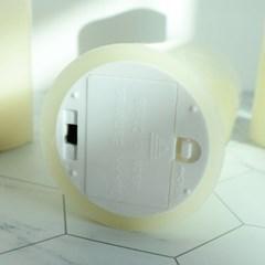 이너스 LED캔들 둥근 막대초 15cm(골드홀더 포함)_(2453293)