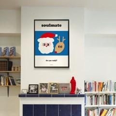 크리스마스 환상의 콤비 M 유니크 인테리어 디자인 포스터