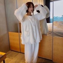 루나루즈 구름 양털 투피스 수면잠옷