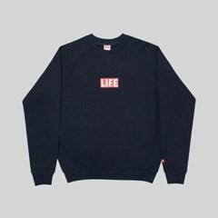 LIFE BASIC LOGO SWEATSHIRT_NAVY_(1483099)