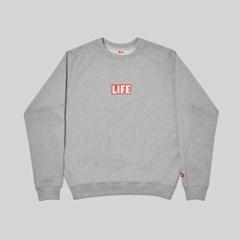LIFE BASIC LOGO SWEATSHIRT_GREY_(1483098)