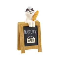 데꼴 베이커리 고양이 간판 피규어