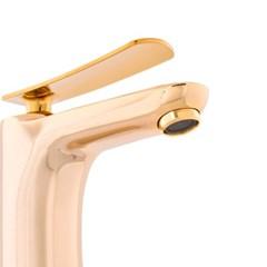 골드 수전 세면대 수도꼭지 화장실 욕실 (D8-340C G 원홀)