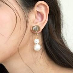 brown mix ball earrings