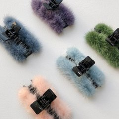 mink hair claw clips (5colors)