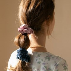 velvet scrunchie (6colors)