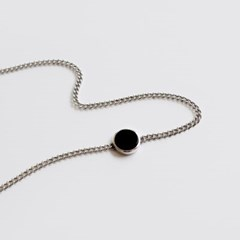 (92.5 silver) onyx choker necklace
