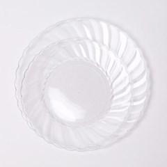 칼라 파티접시 라운드 19cm-투명(6입)