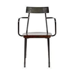1+1본 암체어 월넛 거실의자 식탁의자 카페의자