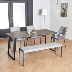 디센 제르마노 6인용 세라믹 식탁 헨리코 의자 벤치 세_(10959168)