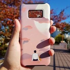 [무광] 동주와 고양이 몽글몽글 달 구경 하드 휴대폰 케이스