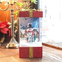 LED 선물상자 오르골 (산타트리 눈사람)