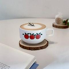 애플 커피잔