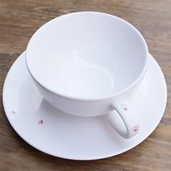 야옹이 발바닥 핑크 커피 SET