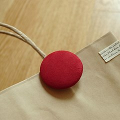 Red button shoppingbag