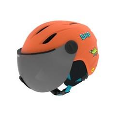 BUZZ MIPS AF 아동 청소년 바이저 헬멧 MATTE DEEP ORANGE DINOSNOW