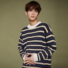 KN070_Stripe Knit Sweater_Charcoal