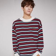 KN069_Stripe Knit Sweater_Navy
