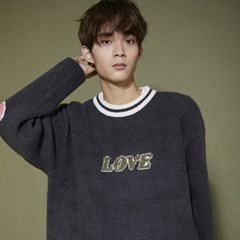 KN074_Cozy LOVE  Knit Sweater_Charcoal