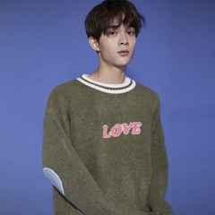 KN072_Cozy LOVE  Knit Sweater_Khaki
