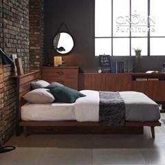 클린트 멀바우 원목 평상형 침대 A타입 SS 슈퍼싱글(매트리스 선택)