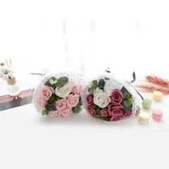 졸업꽃다발 선물 안개꽃다발 부케 파스텔 꽃다발