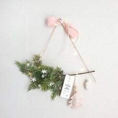 몽글몽글 연핑크 루시 크리스마스 가랜드