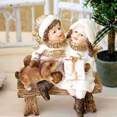 크리스마스장식용품화이트크리스마스 연인마블인형