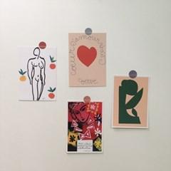 앙리 마티스 드로잉 포스터 그림 엽서 4종세트 [10.5x15cm]