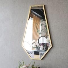 골드 라인 다각형 거울
