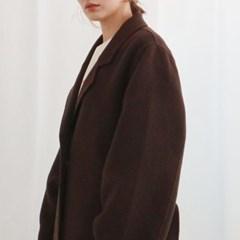 오버핏 핸드메이드 로브 롱 코트 (2color)