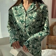 겨울무드 기모면 파자마 홈웨어 잠옷