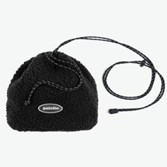 BOA FLEECE BUCKET BAG (BLACK)_(401042725)