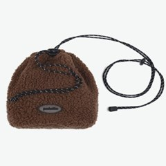 BOA FLEECE BUCKET BAG (BROWN)_(401042724)